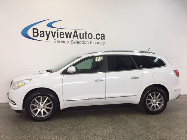 2017 BUICK ENCLAVE - AWD|3.6L|HITCH|ROOF|HTD LTHR|BSA|REV CAM! in Belleville, Ontario