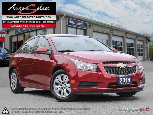 2014 CHEVROLET Cruze ONLY 52K! **CLEAN CARPROOF** BLUETOOTH in Scarborough, Ontario
