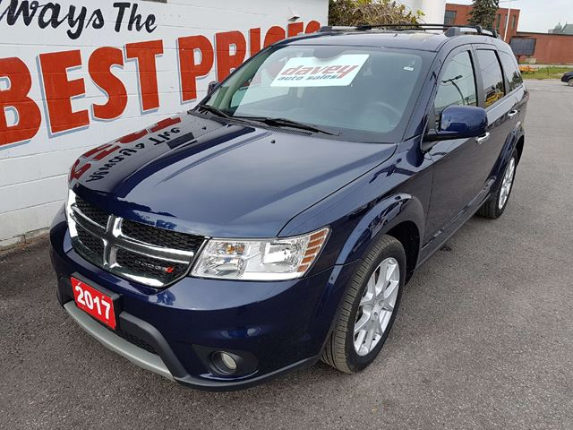 2017 DODGE JOURNEY GT AWD, LEATHER HEATED SEATS, REMOTE START in Oshawa, Ontario
