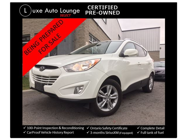 2011 Hyundai Tucson GLS - AUTO, HEATED LEATHER/CLOTH SEATS, BLUETOOTH, SATELLITE RADIO, LUXE CERTIFIED PRE-OWNED in Orleans, Ontario