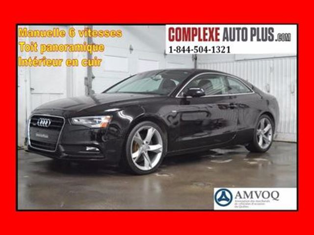 2014 AUDI A5 Coupe 2.0T Komfort Quattro,Toit Pano in Saint-Jerome, Quebec