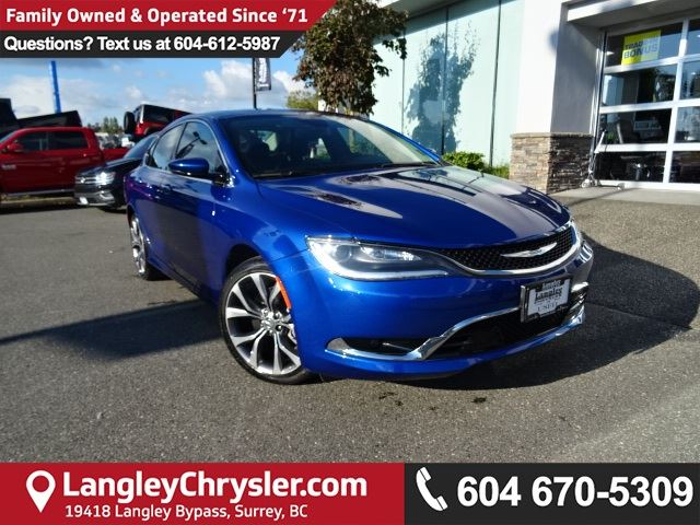 2016 CHRYSLER 200 C *ACCIDENT FREE*ONE OWNER*LOCAL BC CAR* in Surrey, British Columbia