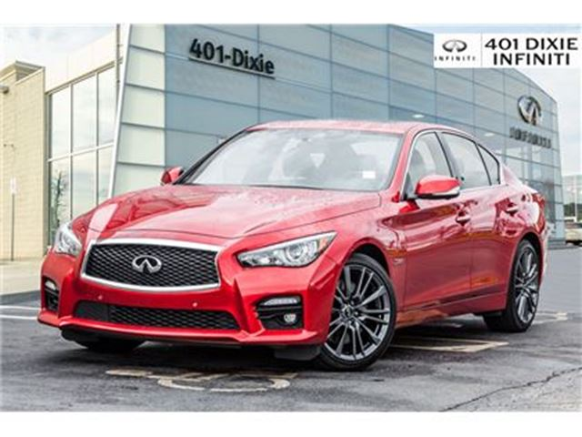 2017 INFINITI Q50 Red Sport, 400 HP! Technology, Design Package! in Mississauga, Ontario