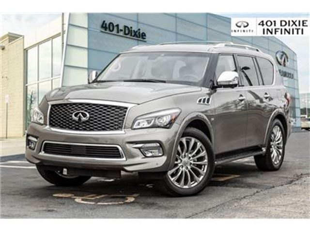 2017 INFINITI QX80 4WD, Technology Package! DVD, Blind Spot! in Mississauga, Ontario