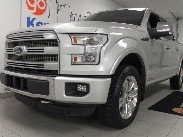 2016 FORD F-150 Platinum 3.5L V6 ecoboost with NAV, sunroof, heated/cooled power leather seats, and 360 degree exterior camera view in Edmonton, Alberta
