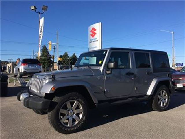 2014 JEEP WRANGLER Unlimited Sahara 4X4 ~Nav ~Heated Seats ~4x4 of the DECADE in Barrie, Ontario