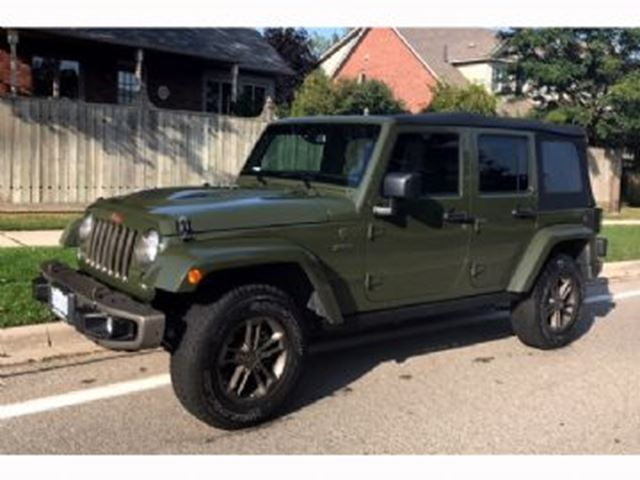 2016 JEEP WRANGLER Unlimited 75TH ANNIVERSARY, SARGE GREEN in Mississauga, Ontario