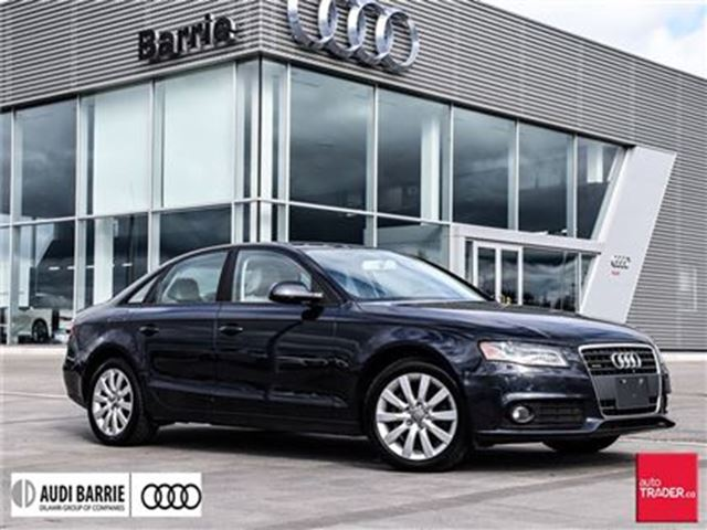 2012 AUDI A4 2.0T Tiptronic Qtro Sdn Very LOW kmS in Innisfil, Ontario
