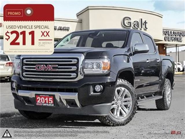 2015 GMC CANYON SLT   LEATHER   NAVIGATION 4X4 CREW CAB in Cambridge, Ontario