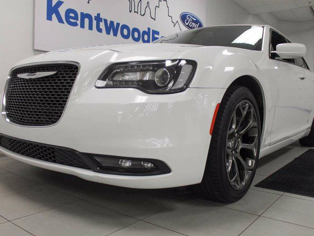 2016 CHRYSLER 300 300S with heated power leather seats, back up cam, and a gleaming white exterior in Edmonton, Alberta
