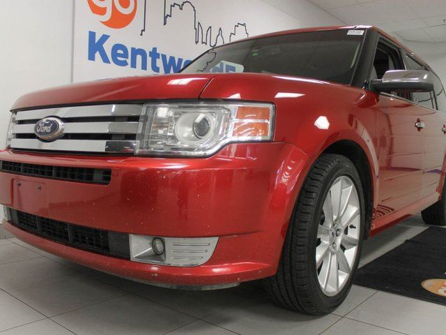 2012 FORD FLEX Limited AWD- NAV, heated power leather seats, a sunroof for everyone, and back up cam in Edmonton, Alberta