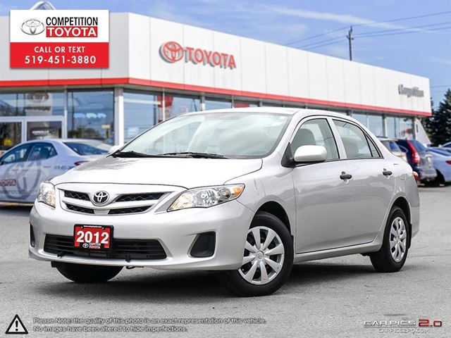 2012 TOYOTA COROLLA CE One Owner, No Accidents in London, Ontario
