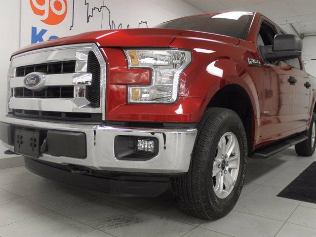 2015 FORD F-150 XLT 3.5L V6 4x4 ecoboost with extra room and a stylish candy red in Edmonton, Alberta