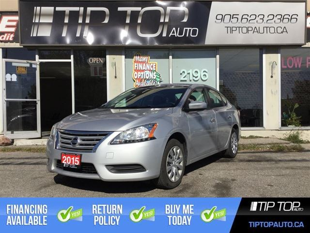 2015 NISSAN SENTRA S**Bluetooth, Keyless Entry, Factory Warranty** in Bowmanville, Ontario