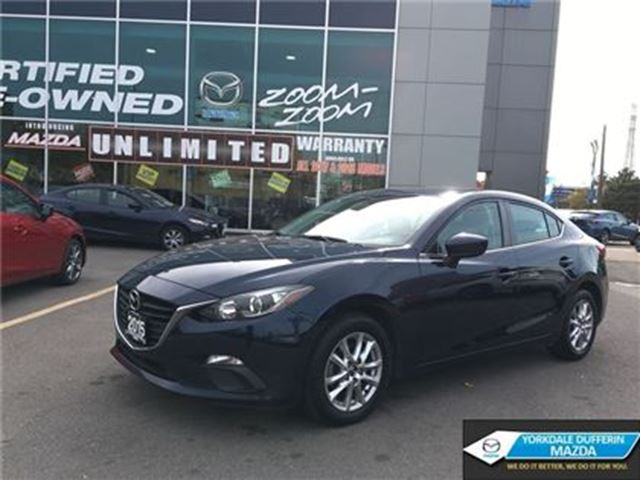 2015 MAZDA MAZDA3 GS / HEATED SEATS / BACK UP CAM / 0.65% CPO!!! in Toronto, Ontario