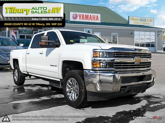 2016 chevrolet silverado 3500hd lt v8 towing mirrors spacious white tilbury auto sales. Black Bedroom Furniture Sets. Home Design Ideas