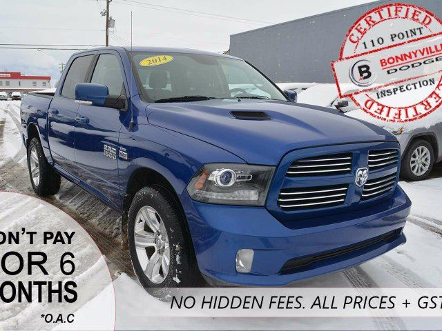 2014 DODGE RAM 1500 SPORT, LEATHER, SUNROOF, BACKUP CAMERA in Bonnyville, Alberta