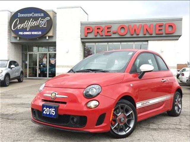 2015 FIAT 500 Abarth.   GOLDPLAN WARRNTY   NAVIGATION   RED in Toronto, Ontario