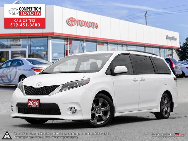 2016 TOYOTA Sienna SE 8 Passenger Toyota Certified, Technology Package, One Owner, No Accidents, Toyota Serviced in London, Ontario