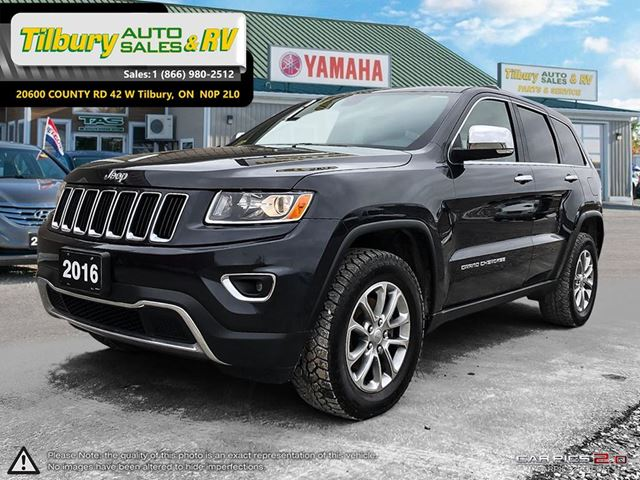 2016 JEEP GRAND CHEROKEE Limited. PUSH TO START. 4X4. LEATHER. in Tilbury, Ontario