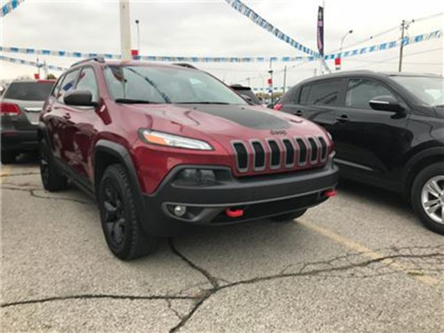 2015 JEEP CHEROKEE Trailhawk   NAV   LEATHER   4X4   CAM in London, Ontario