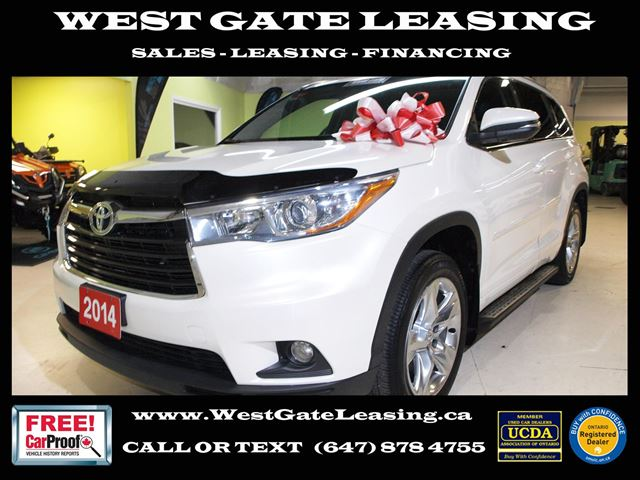 2014 TOYOTA Highlander LIMITED  NAVIGATION  CAMERA  LEATHER  in Vaughan, Ontario