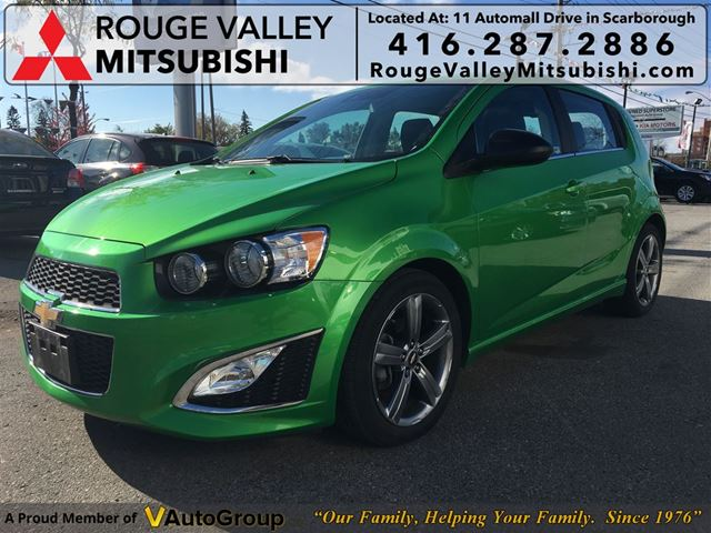 2015 chevrolet sonic rs turbo no accidents body in great shape green rouge valley. Black Bedroom Furniture Sets. Home Design Ideas