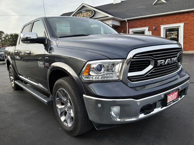 2017 Dodge RAM 1500 Limited 4x4, Loaded, RAMBOX, Leather Heated/Vented Seats, NAV, Sunroof in Paris, Ontario