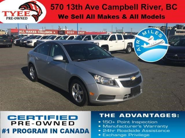 2011 CHEVROLET CRUZE LT Turbo+ w/1SB in Campbell River, British Columbia