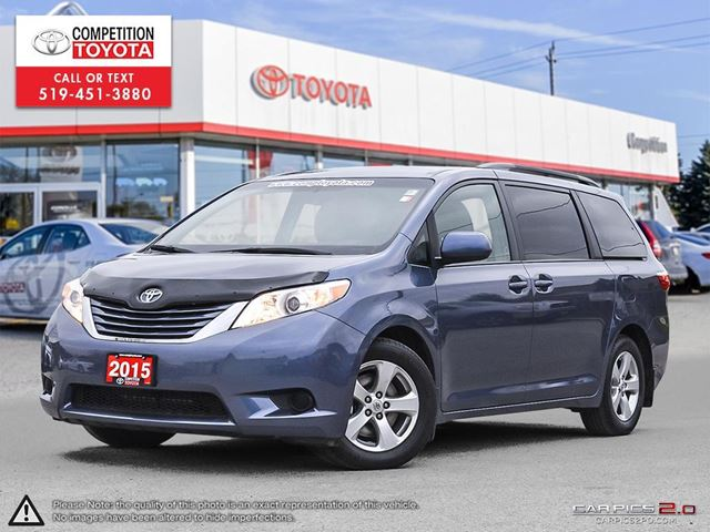 2015 TOYOTA Sienna LE 8 Passenger Toyota Certified, One Owner, No Accidents, Toyota Serviced in London, Ontario