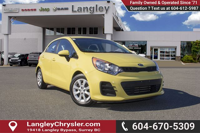 2016 KIA RIO LX+ *ACCIDENT FREE * DEALER INSPECTED * CERTIFIED * in Surrey, British Columbia