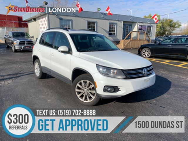 2014 VOLKSWAGEN TIGUAN Comfortline   ONE OWNER   NAV   ROOF   LEATHER in London, Ontario