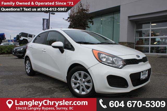 2014 KIA RIO LX *LOCAL BC TRUCK*ONE OWNER* DEALER INSPECTED* in Surrey, British Columbia
