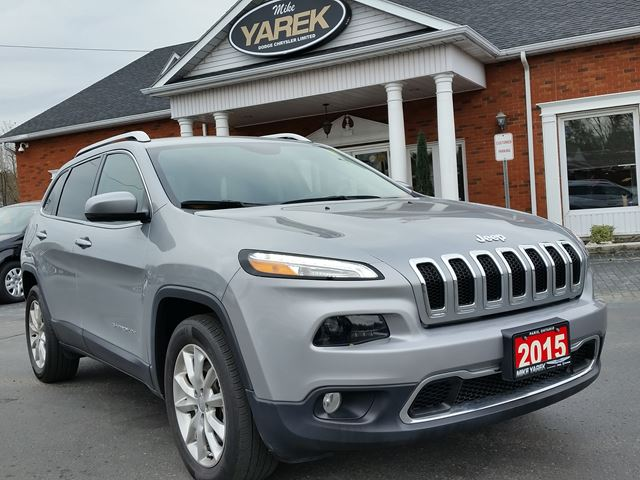 2015 JEEP CHEROKEE Limited 4x4, Tow Pkg, NAV, Heated/Vented Seats, Remote Start, Back Up Cam in Paris, Ontario