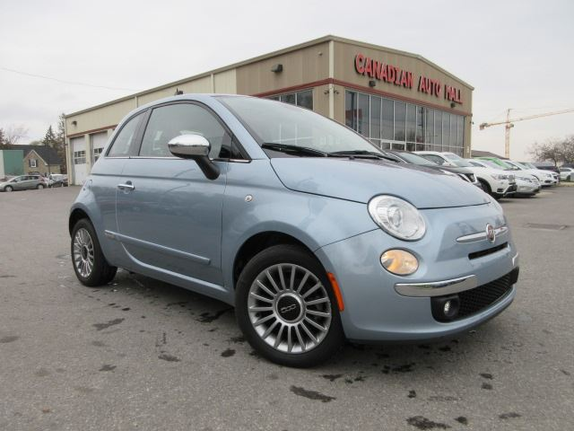 2014 FIAT 500 LOUNGE, ROOF, HTD. LEATHER, BT, 35K! in Stittsville, Ontario
