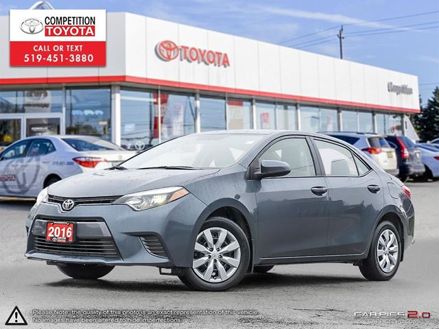 2016 TOYOTA COROLLA LE No Accidents, Former Daily Rental  in London, Ontario