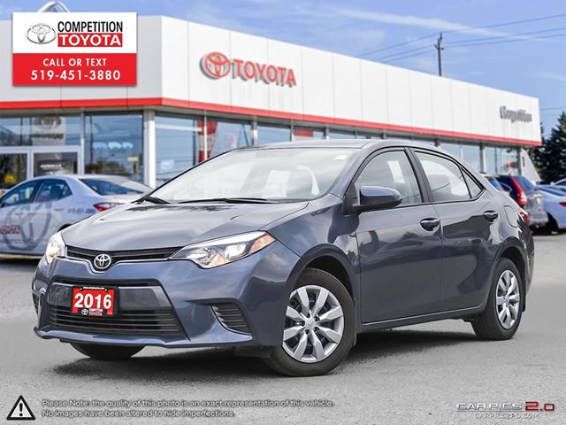2016 TOYOTA COROLLA LE Toyota Certified, No Accidents, Former Daily Rental  in London, Ontario