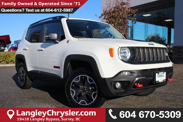 2016 JEEP RENEGADE Trailhawk *ACCIDENT FREE*ONE OWNER*LOCAL BC JEEP* in Surrey, British Columbia