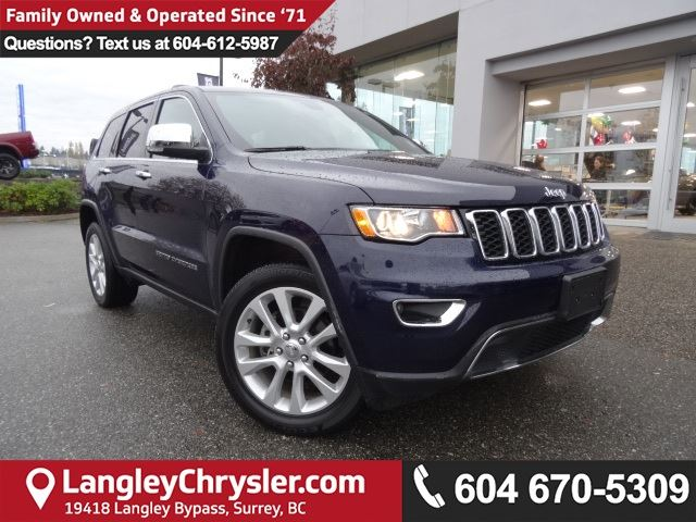 2017 JEEP GRAND CHEROKEE Limited *ACCIDENT FREE*ONE OWNER*LOCAL BC JEEP* in Surrey, British Columbia