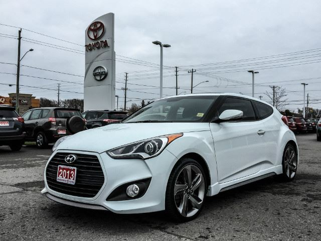 2013 HYUNDAI VELOSTER Turbo w/Black Int TURBO TECH-LEATHER-NAVI+MORE! in Cobourg, Ontario