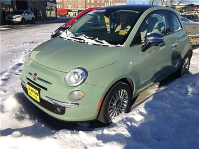 2013 FIAT 500 Lounge, Auto, Leather, Sunroof, in Burlington, Ontario