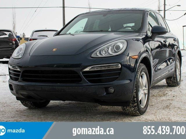 2014 PORSCHE CAYENNE Platinum Edition AWD LEATHER SUNROOF NAVIGATION PREMIUM GREY INTERIOR ACCIDENT FREE 1 OWNER WINTER TIRES in Edmonton, Alberta