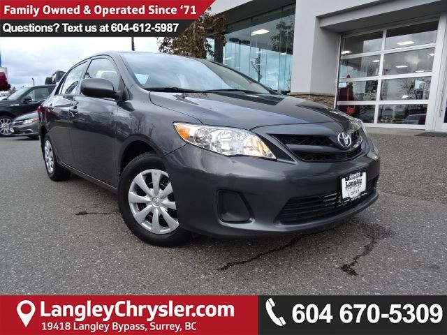 2013 TOYOTA COROLLA LE *DEALER INSPECTED*PROFESSIONALLY DETAILED* in Surrey, British Columbia