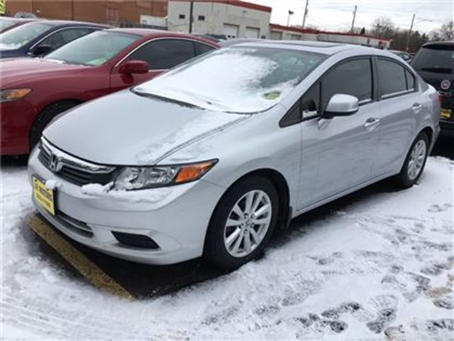2012 HONDA CIVIC EX-L, Auto, Navi, Leather, Sunroof, 66, 000km in Burlington, Ontario