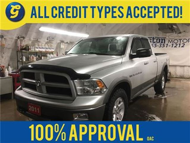 2011 Dodge RAM 1500 OUTDOORSMAN*QUADCAB*4WD*HEMI*PHONE CONNECT*REMOTE in Cambridge, Ontario
