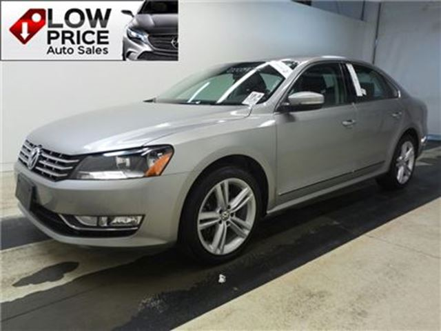 2013 VOLKSWAGEN PASSAT 2.0 TDI Highline*Leather*Sunroof*Alloys*VolksWarr* in Toronto, Ontario