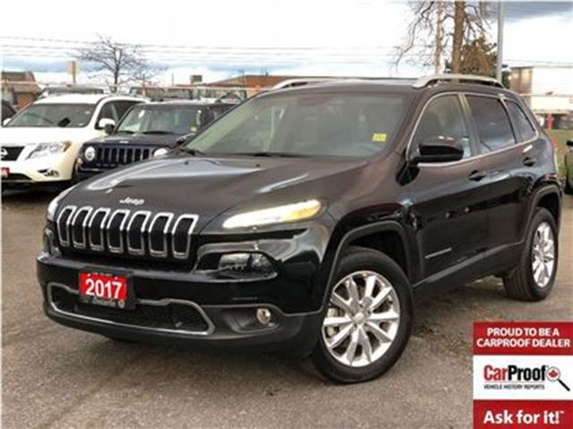 2017 JEEP CHEROKEE LIMITED**4x4**V6**LEATHER**SUNROOF**BACK UP CAM** in Mississauga, Ontario