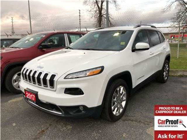 2017 JEEP CHEROKEE LIMITED**LEATHER**NAV**BLUETOOTH** in Mississauga, Ontario