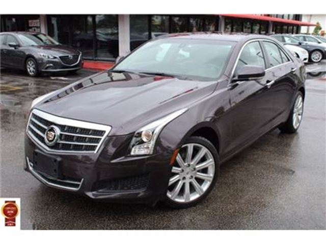 2014 CADILLAC ATS LUXURY AWD CUE NAVI RED LEATHER SUNROOF REARCAM in Toronto, Ontario