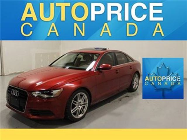 2012 AUDI A6 3.0T NAVIGATION MOONROOF LEATHER in Mississauga, Ontario